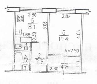 1-комнатная, улица Вологодская 14. Индустриальный, частное лицо, 31 кв.м.
