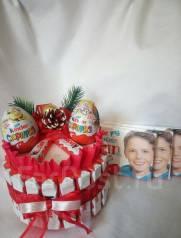 Подарок на Новый год! Тортик из конфет!. Под заказ
