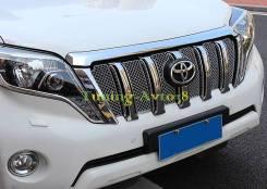 Молдинг решетки радиатора. Toyota Land Cruiser Prado, GRJ150L, GDJ150L, KDJ150L, GDJ150W, TRJ150W, GDJ151W, GRJ151W, GRJ150W, TRJ12 Двигатели: 1GRFE...