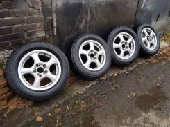 Литье weds R15 6.5J ET45 с липучкой 205 65 R15 Bridgestone Blizzak Rev. 6.5x15 5x100.00, 5x114.30 ET45 ЦО 73,0мм.