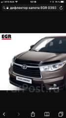 Дефлектор капота. Toyota Highlander, ASU50, ASU50L, GSU50, GSU55, GSU55L, GVU58 Двигатели: 1ARFE, 2GRFE, 2GRFXE