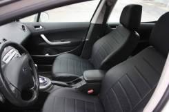 Чехлы из экокожи Toyota Rav4 2013-2018 черные