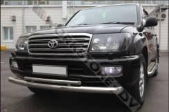 Защита бампера. Toyota Land Cruiser, HDJ100L, HDJ100, FZJ100, UZJ100, HZJ105L, J100, UZJ100W, HDJ101K, FZJ105, HZJ105, HDJ101, UZJ100L Двигатели: 1HZ...