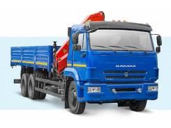 Камаз 65115. Бортовой автомобиль (6х4) с КМУ Palfinger PK15500A, 300 куб. см., 6 100 кг.