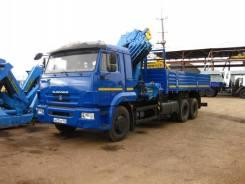 Камаз 65115. Бортовой автомобиль (6х4) с КМУ Инман ИМ 150N, 300 куб. см., 6 100 кг.