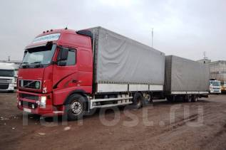 Volvo. Автопоезд грузовик тентованный FH12, 12 130 куб. см., 14 000 кг.