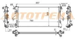 Радиатор FIAT DUCATO/PEUGEOT BOXER/CITROEN JUMPER 2.2TD/3.0 06- SAT PG0009-06