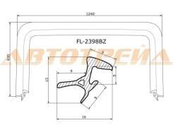 Молдинг лобового стекла TOYOTA BB/SCION XB 00-05 FLEXLINE FL-2398BZ