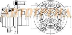 Ступичный узел FR INFINITI G35/NISSAN SKYLINE/STAGEA 01- NTN HUB232-16