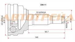 Шрус DAEWOO Nubira/Lacetti 1.4-1.6-1.8 95-