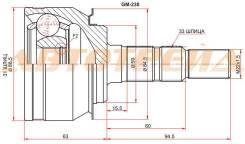 Шрус наружний CHEVROLET CRUZE 10- GM-230