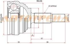 Шрус наружный RENAULT LOGAN 10-/NISSAN ALMERA GA15 12- STRN236