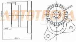 Натяжитель приводного ремня MMC ASX/LANCER 1,8-2,0 08-/OUTLANDER/CITROEN C-CROSSER 2,0-2,4 08-