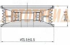 Ролик натяжителя приводного ремня FORD FIESTA/FOCUS/MAVERICK/MONDEO/TRANSIT/MAZDA 3/5/MPV 1,8-2,3
