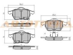 Колодки тормозные FR OPEL ASTRA H/CORSA C/D/ZAFIRA B