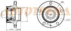 Ступичный узел RR AUDI A3/SKODA OCTAVIA/VW GOLG/JETTA/POLO -08,2011