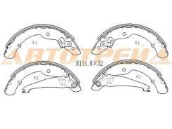 Колодки тормозные RR VW POLO 11-, правый задний