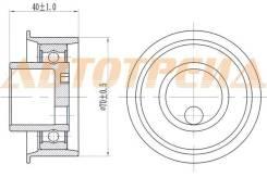 Натяжной ролик ремня ГРМ HYUNDAI ELANTRA/TUCSON/KIA SPORTAGE 2,0 ST-24410-23011