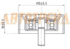 Ролик натяжителя приводного ремня HYUNDAI IX35/SANTA FE/KIA OPTIMA/SPORTAGE 2,0/2,4