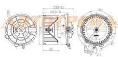 Мотор отопителя салона NISSAN X-TRAIL T31 07-14/QASHQAI/DUALIS 06-14