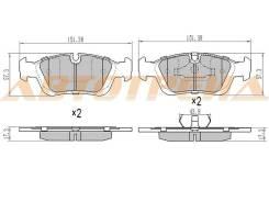 Колодки тормозные FR BMW 3 E46-E36, правый передний