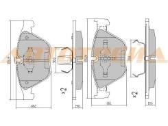 Колодки тормозные FR BMW E82/E90/92/90/E60/63/65/E89/E84, правый передний