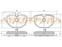 Колодки тормозные RR BMW 5 F10, правый задний