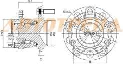 Ступичный узел RR MMC ASX 10-/OUTLANDER XL 06-12/LANCER X/CITROEN C4 12-/PEUGEOT 4007 2WD 07-