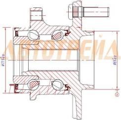 Ступичный узел RR MMC ASX/OUTLANDER 4WD 12- (рестайлинг) ST-3785A035