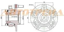 Ступичный узел FR NISSAN QASHQAI J10E 06-/X-TRAIL J31 07-/ROGUE S35 07-