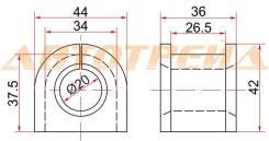 Втулка переднего стабилизатора D=19 MMC OUTLANDER 06-/LANCER 07-