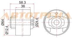 Опора дифференциала LH=RH TOYOTA AURIS/BLADE/RUMION/MARK X ZIO/RAV4 4WD 05- ST-41651-42120