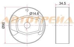 Опора дифференциала RR TOYOTA AURIS/BLADE/RUMION/MARK X ZIO/RAV4 4WD 05- ST-41651-42130