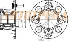 Ступичный узел RR HONDA CIVIC ES1,EU1 00- (барабан)
