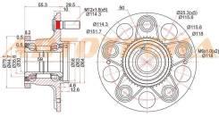 Ступичный узел RR HONDA STREAM RN#/INTEGRA DC5/CIVIC EU3 00-06 2WD (диск)