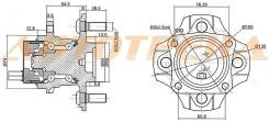 Ступичный узел RR TOYOTA COROLLA/FIELDER/RUNX/ALLEX 2WD 00-