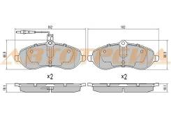 Колодки тормозные FR CITROEN JUMPY II/PEUGEOT EXPERT II 07-