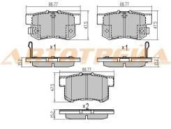 Колодки тормозные RR HONDA CR-V RD# 02-06/STREAM 01-