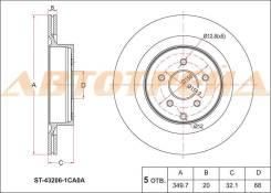 Диск тормозной зад NISSAN FUGA Y51 09-/INFINITI QX70 08-/Q50 13-