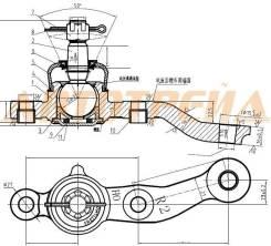 Шаровая опора FR TOYOTA ARISTO/CROWN/MAJESTA/SOARER/LEXUS GS300/400/430/SC430 97-05 RH