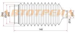 Пыльник рулевой рейки TOYOTA COROLLA/SPRINTER 92-02 LH=RH