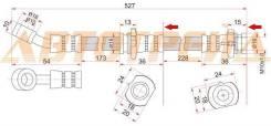 Шланг тормозной передний (Таиланд) NISSAN ALMERA/PRESEA/PULSAR/SUNNY/SENTRA 94-00 RH