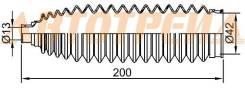 Пыльник рулевой рейки NISSAN ALMERA/QASHQA/TEANA /X-TRAIL 00- LH