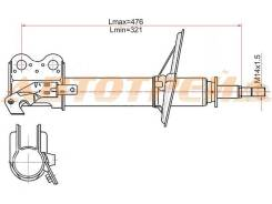 Стойка передняя TOYOTA COROLLA II/CORSA/CYNOS/STARLET/RAUM 94-03 RH
