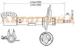 Стойка передняя toyota camry/windom/lexus es300 03-06 lh, левая