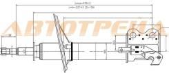 Стойка передняя TOYOTA COROLLA II/CORSA/CYNOS/STARLET/RAUM 94-03 LH