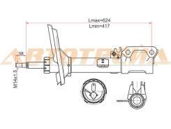 Стойка задняя 2WD TOYOTA HARRIER 03-/KLUGER 01- RH
