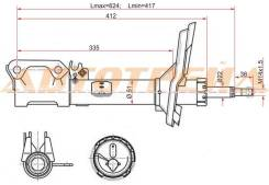 Стойка задняя 2WD TOYOTA HARRIER 03- /KLUGER 01- LH