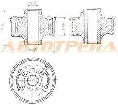 Сайлентблок RR переднего нижнего рычага TOYOTA AVENSIS/AURIS/BLADE/COROLLA/RUMION/MARK X ZIO/RAV4 05 ST-48655-02130