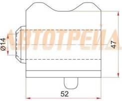 Втулка переднего стабилизатора d-23 toyota avensis zrt270 08- rh, правая